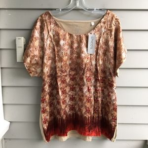 CHICO'S Red Desert Refined Silky Tee XL 16 (3) NWT